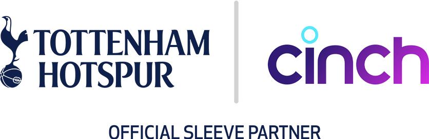 cinch sleeve partner of Tottenham Hotspur Football Club